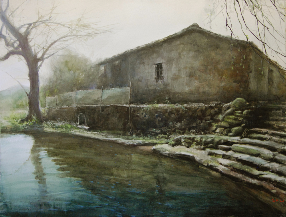 Memory of Old Tree, Flowing Water, and the House.jpg