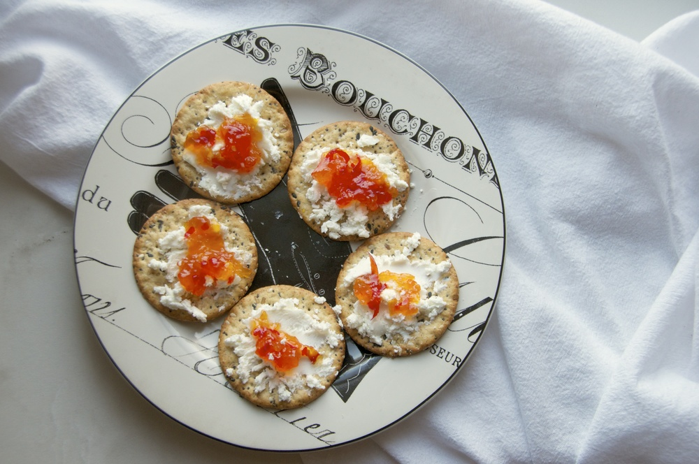 pepper jelly and goat cheese.jpg