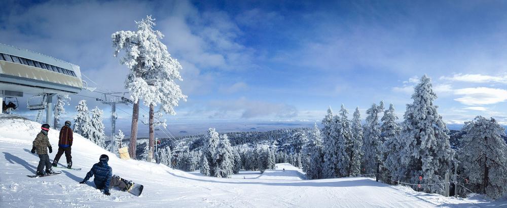 Winter Fall  - Stitched Panorama - Wrightwood, California
