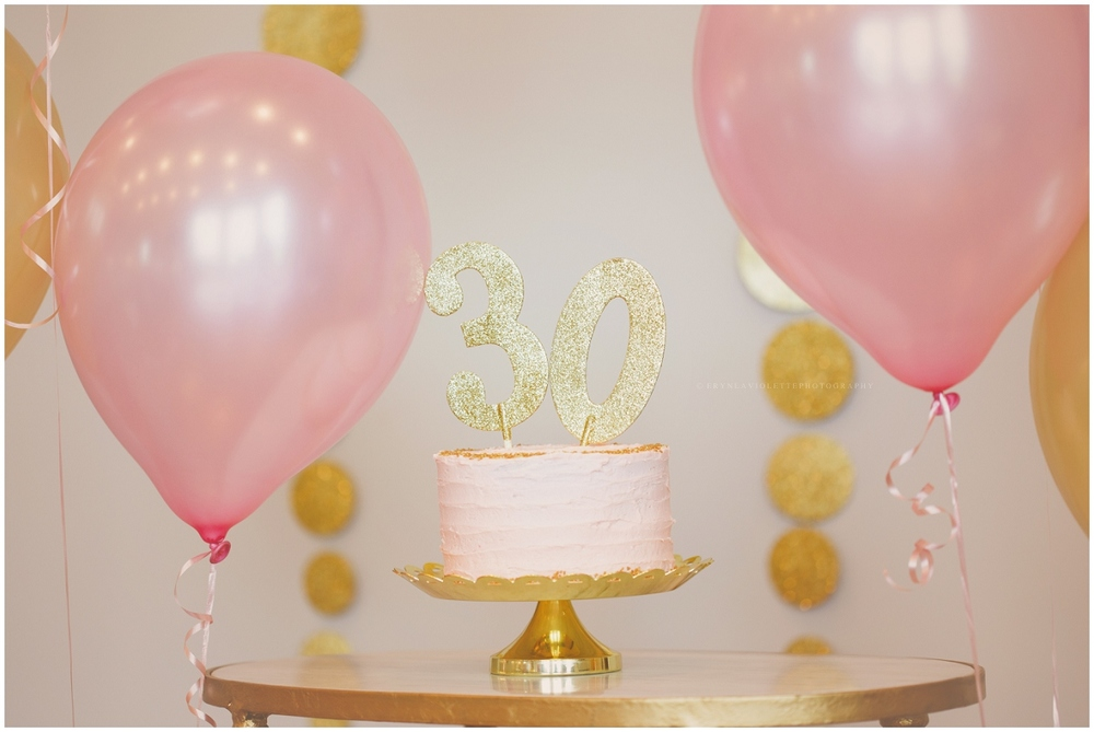 Champagne Cake Glitter 30th Birthday Cake Smash Eryn