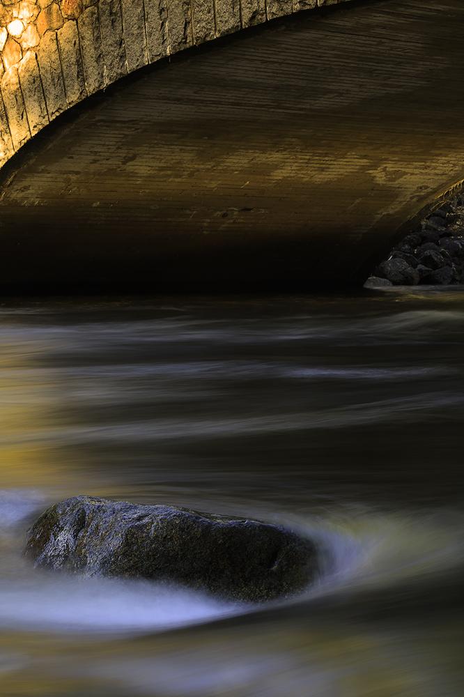 """Beauty Beneath"" Merced River and Pohono Bridge @ 6:18pm 04/05/16"