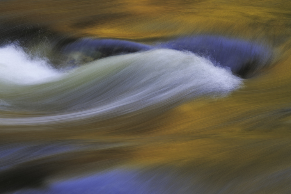 """Golden Flow"" Merced River beneath Pohono Bridge @ 6:29pm 04/05/16"