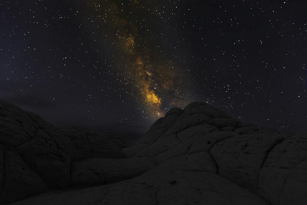 Milky Way Over Brain Stones