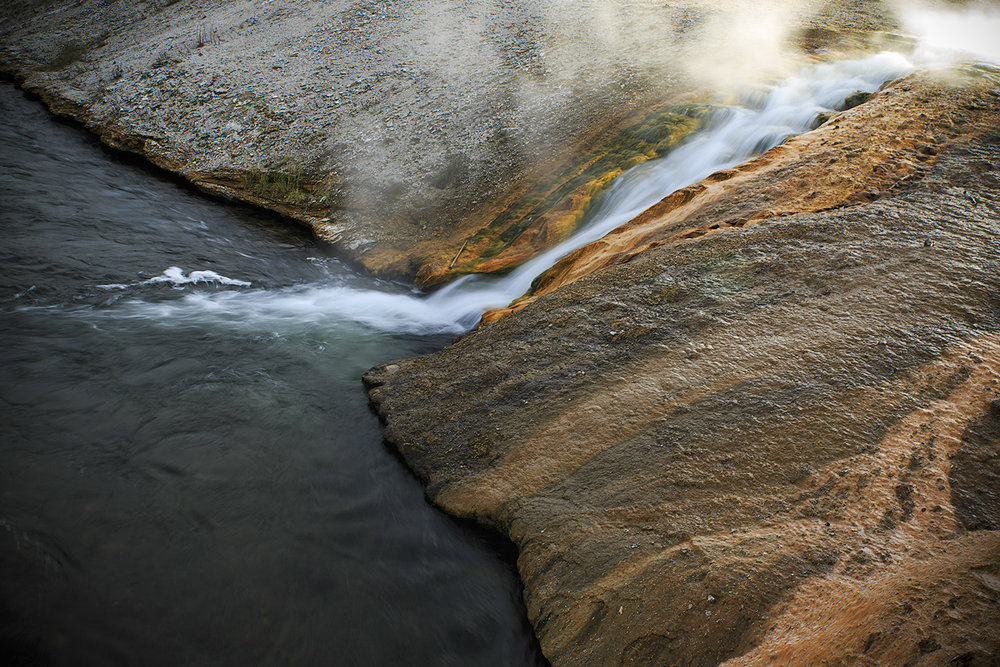 Runoff  Into Firehole River
