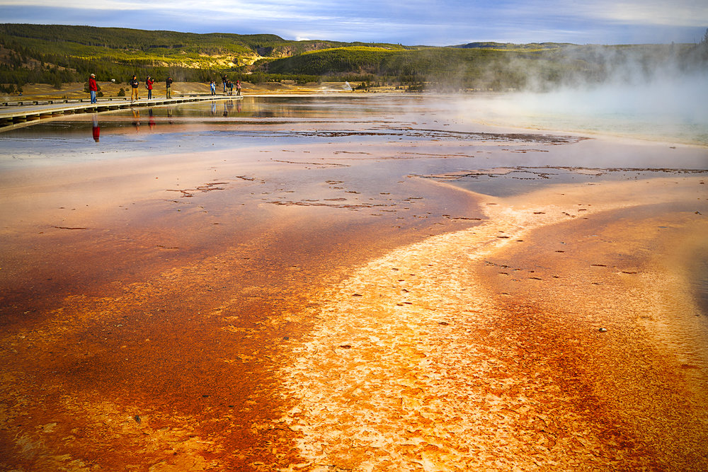 Grand Prismatic Spring Observation Deck