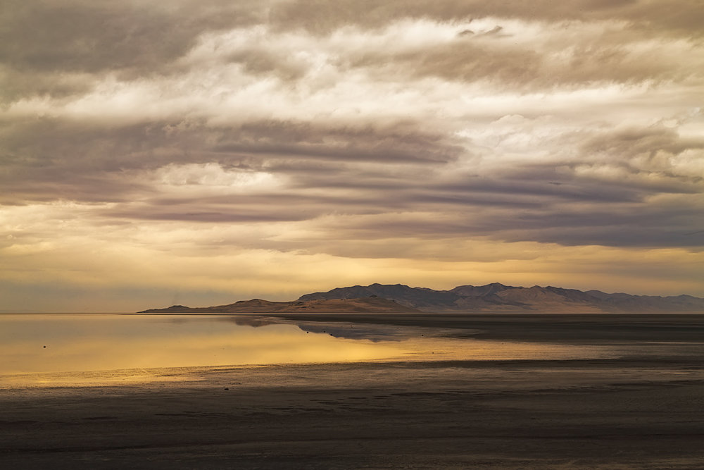 Great storm Over Great Salt Lake