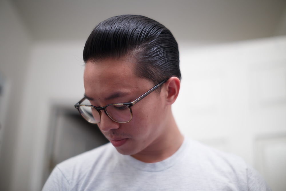O'Douds Water Based Pomade final slickness