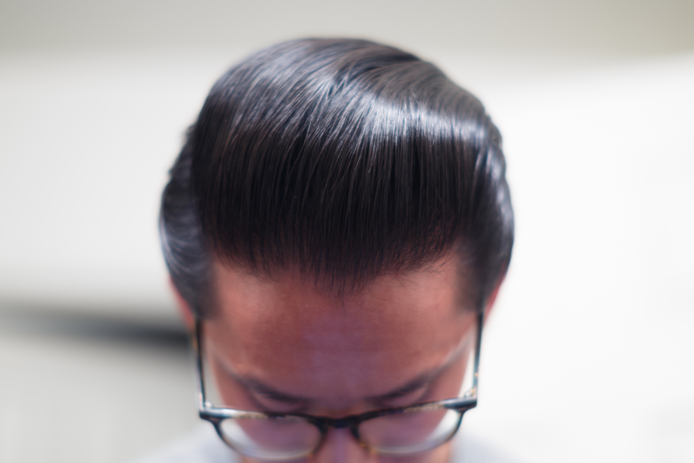 Cool Grease Blue Pomade final shine