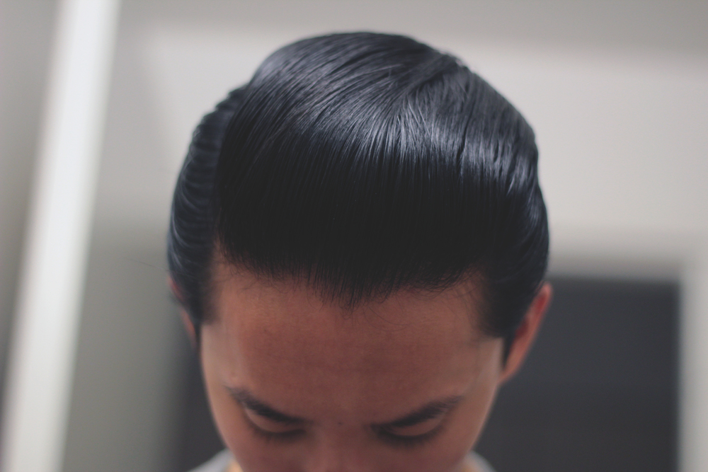 Black & White Hair Dressing Pomade - pomp top