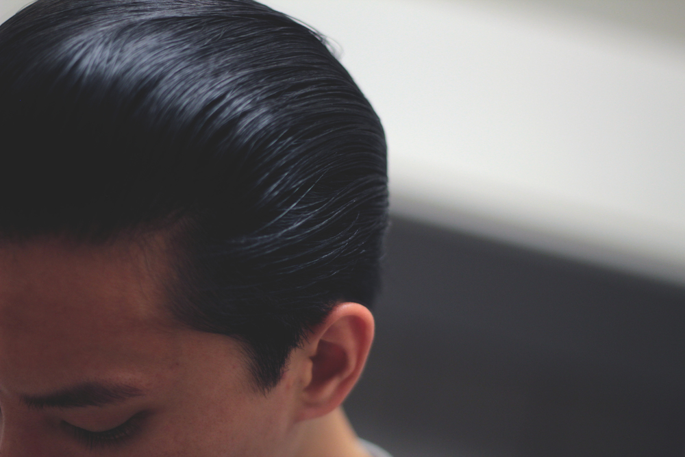 Black & White Hair Dressing Pomade - pomp slickness