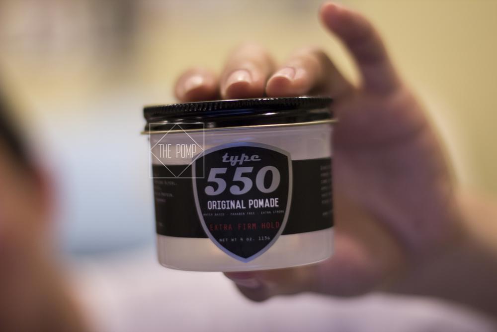 Type 550 Original Pomade Extra Firm Hold jar