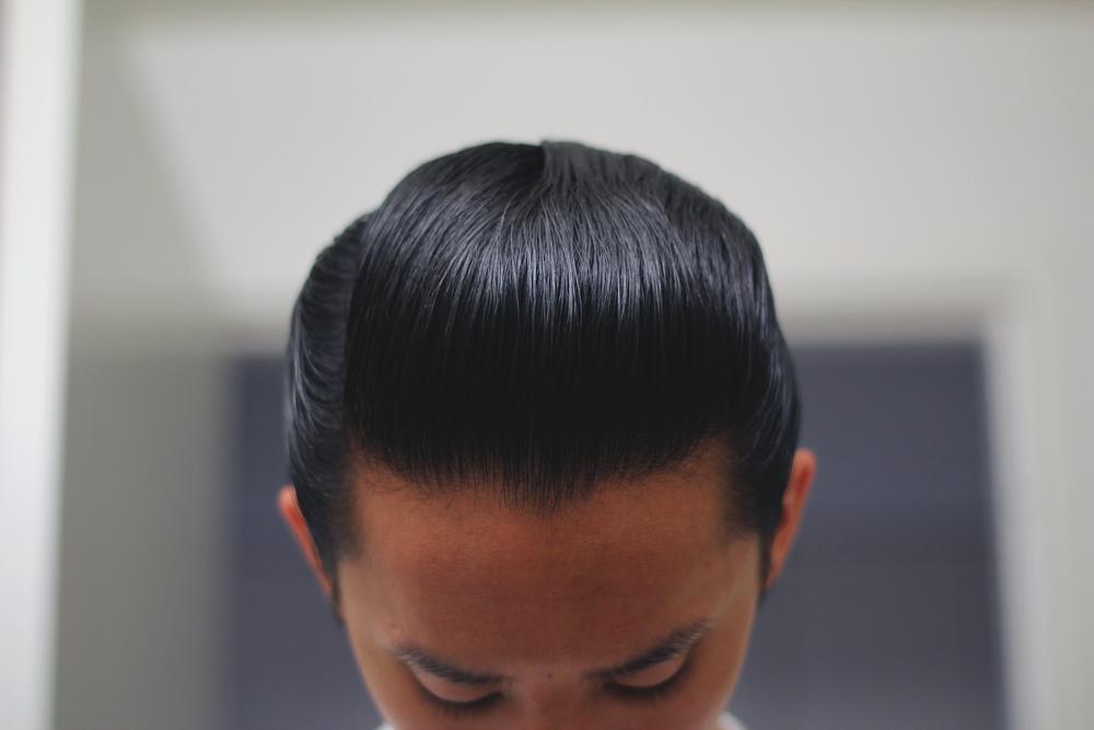 Schmiere Feinste Haar Hart Pomade top pomp