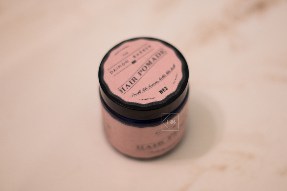 The Daimon Barber Hair Pomade No.2 jar