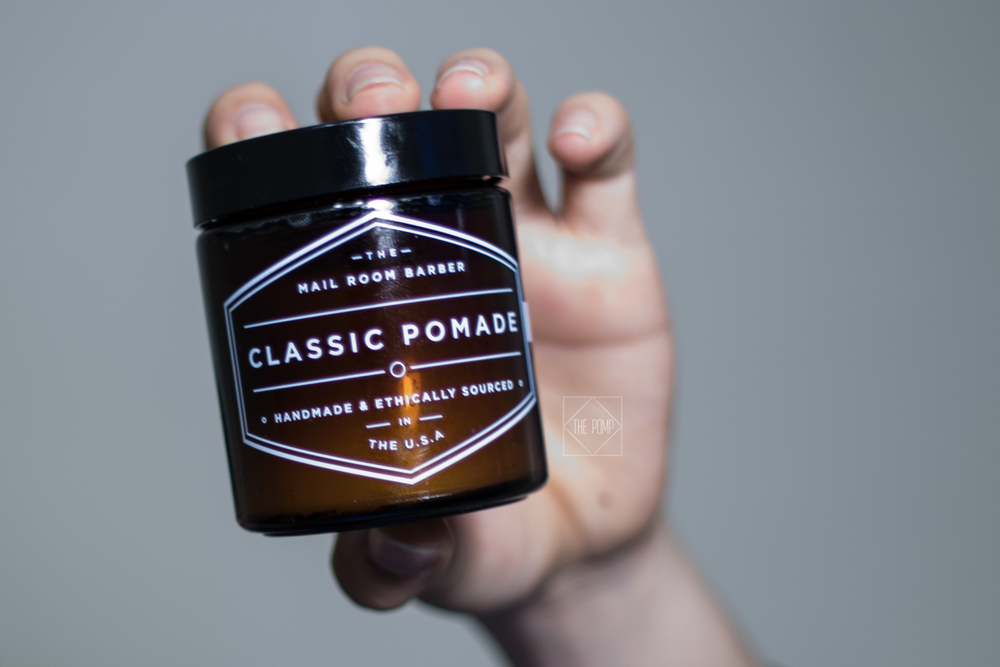 The Mail Room Barber Pomade jar