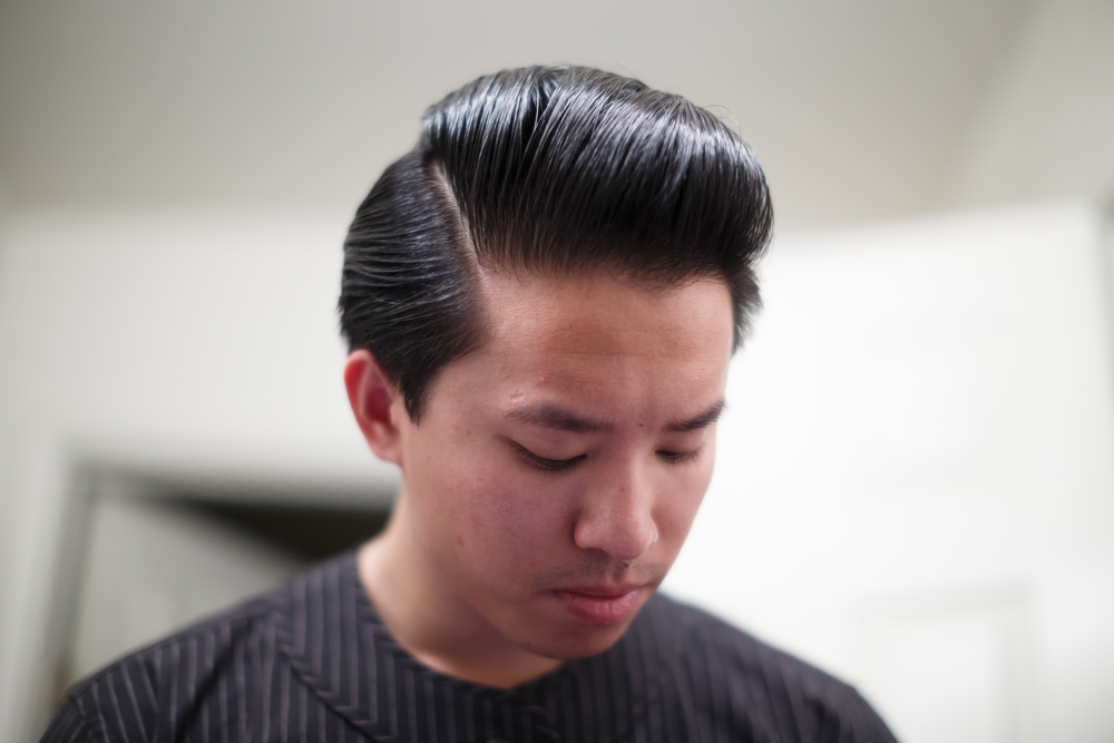 Rustin Light Hold Pomade Side 45 Pompadour