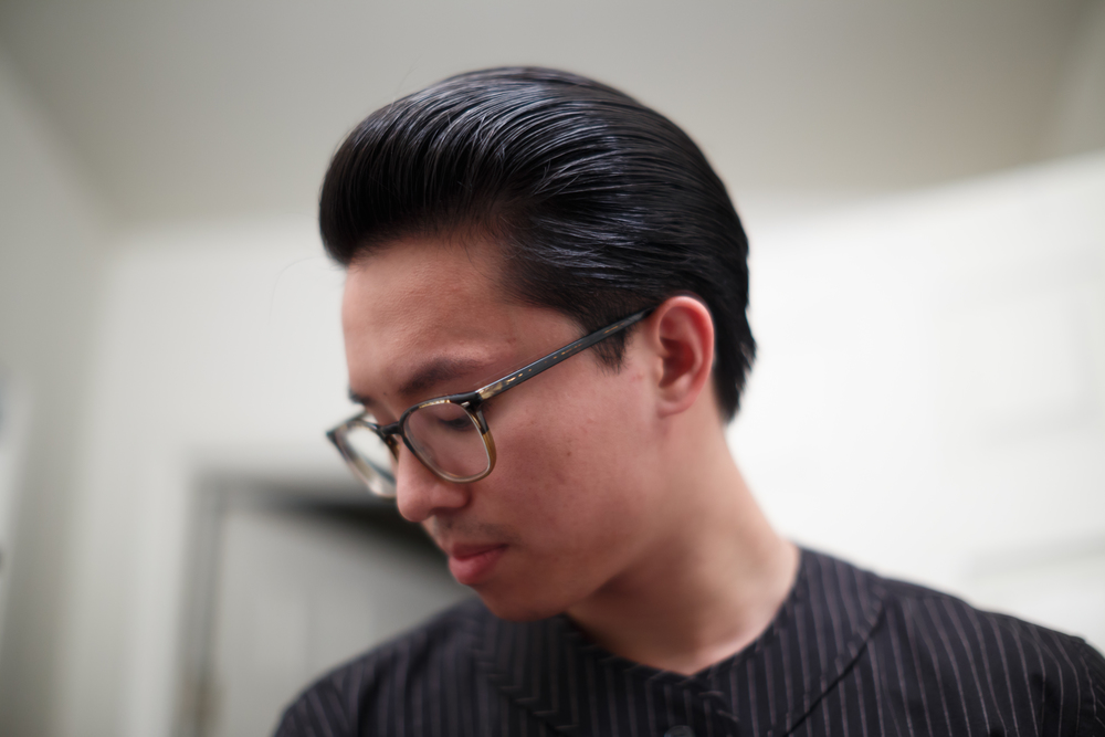Rustin Light Hold Pomade hairstyle
