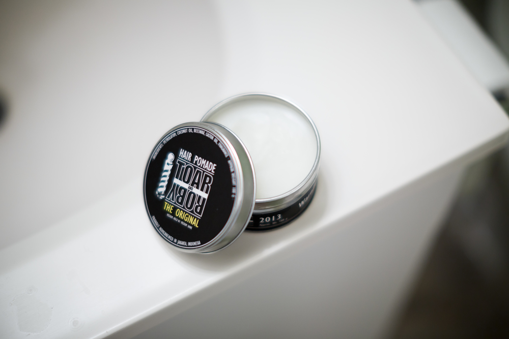 Toar and Roby Hair Pomade The Original Heavy Executive Slick ThePomp Pomp Pomade Pompadour Opened Product Oil Based Grease Indonesia Indonesian Import Foreign