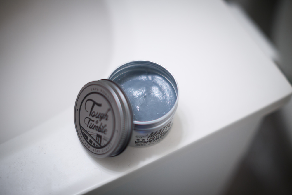 Tough & Tumble Lava Pomade 01 Matte Hair Hairstyle Texture Texturizer Wax Clay Faux Pomp Pompadour The Pomp