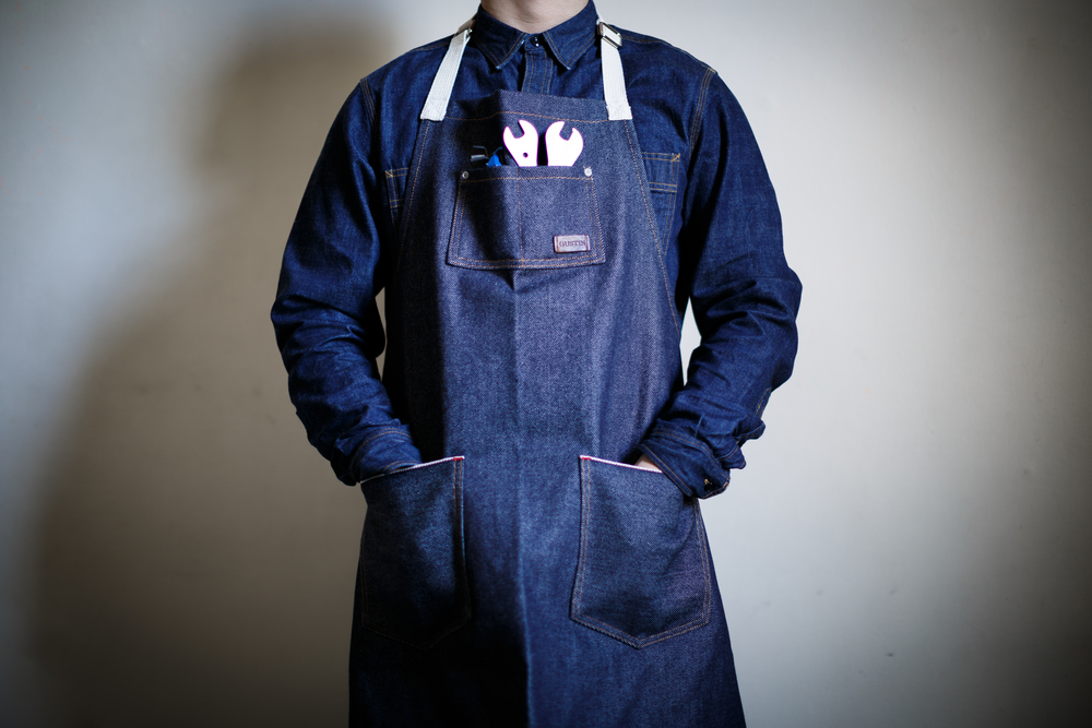 Selvedge Apron Denim High Quality Gustin Wear Workwear Work