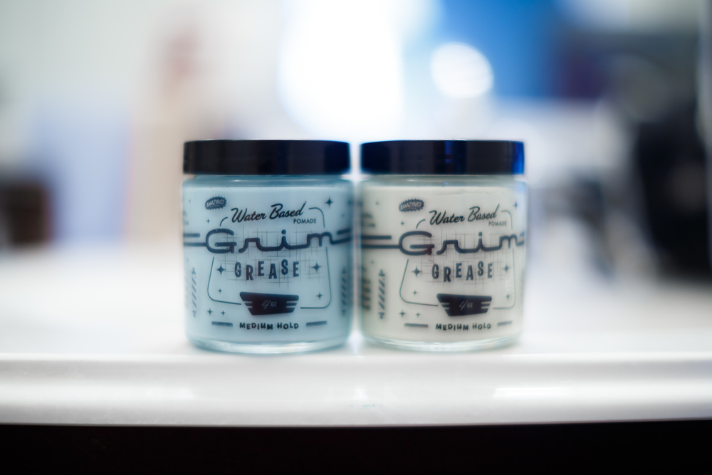 Grim Grease Water Based Medium Hold Pomade GG Cologne The Pomp Pompadour