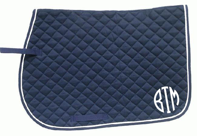 Saddle Pad Monogram Heat Transfer A Bit Tacky