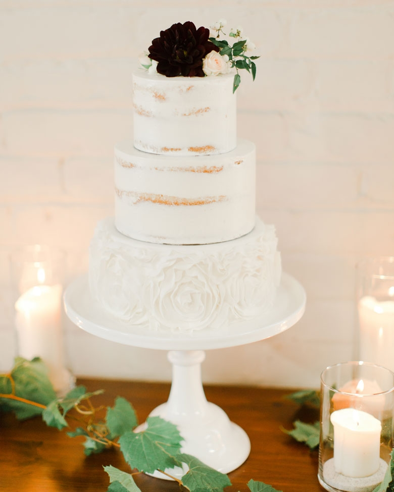 Barely There Naked Wedding Cake