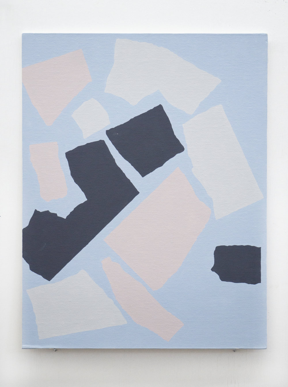 "In Conversation II  18"" x 14"" Acrylic on canvas panel 2018"