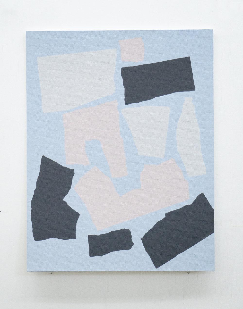 "In Conversation III  18"" x 14"" Acrylic on canvas panel 2018"