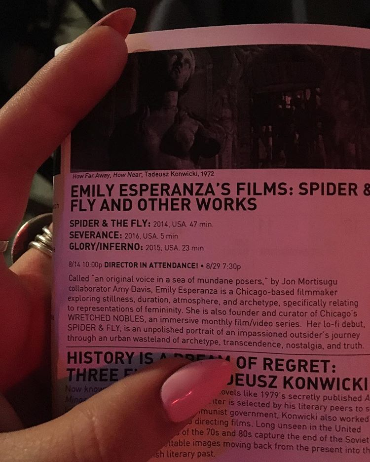 Program from The Spectacle Theatre's screening of 'WRETCHED WOMAN', Brooklyn, NY