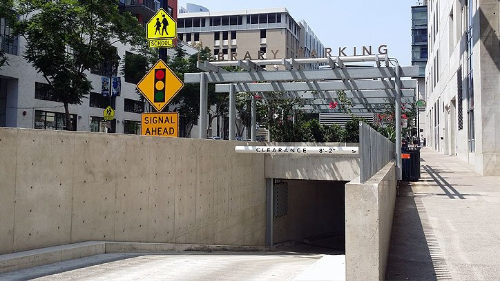 Sd central library parking