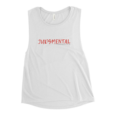Judgmental Tank (Red Font) - $28.50