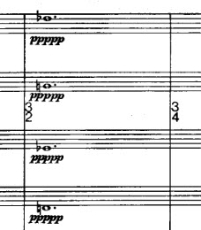 Detail from the  Rothko Chapel  score