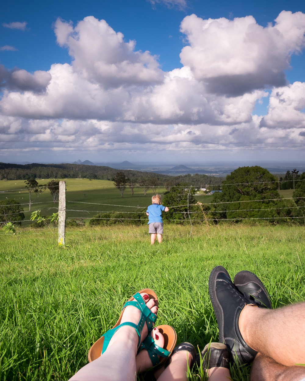 Relaxing cloud watching at Mt Mee