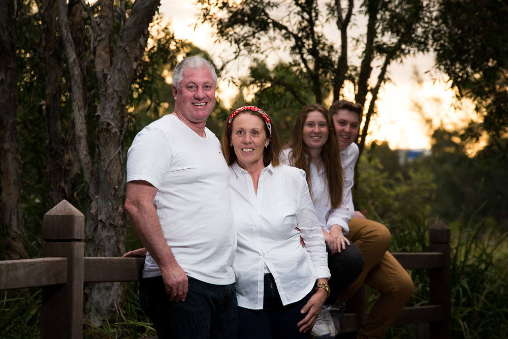Late afternoon adult family portraits at Lake Eden North Lakes  Stuart C Photography  Caboolture Outdoor Portrait Photographer