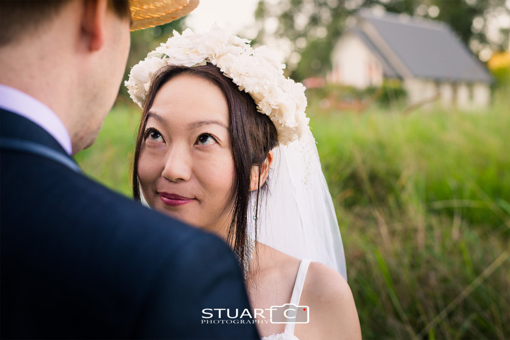 Ryan and Yuka wedding at Annabelle Chapel Sunshine Coast by Caboolture Wedding Photographer Stuart Cox of Stuart C Photography