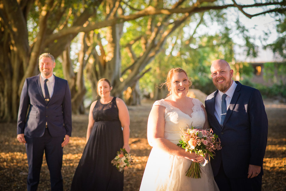 Wedding party at Wirreanda Park in Buderim