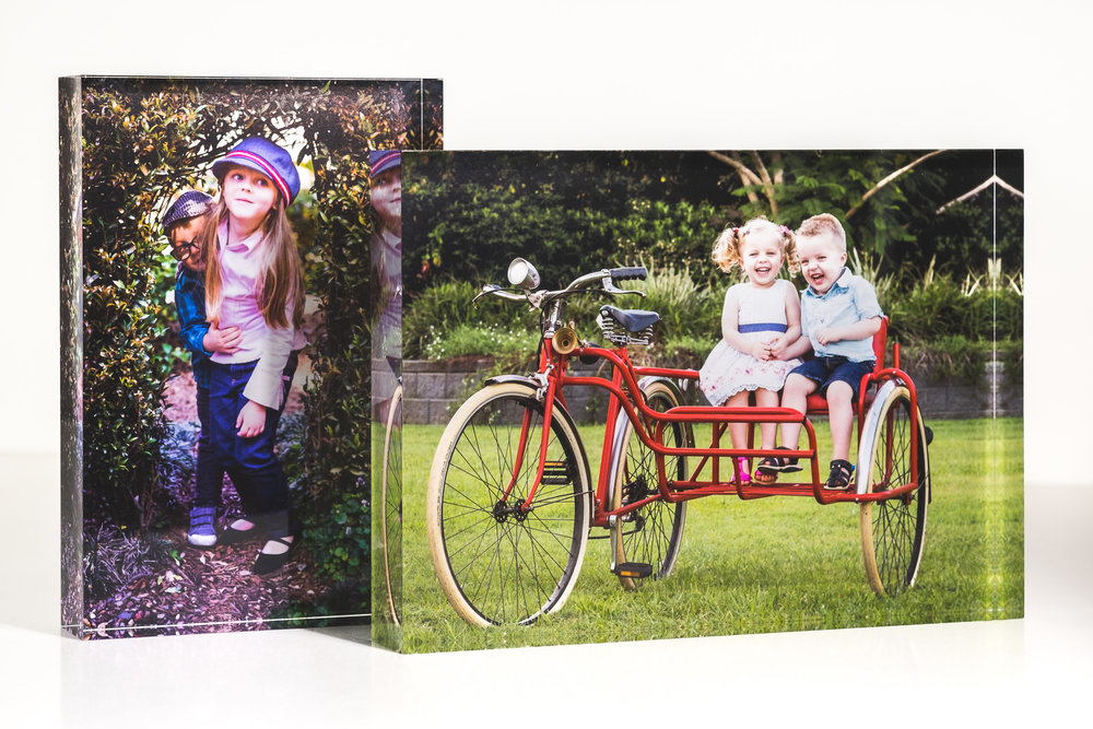 Acrylic block for desk or table by Caboolture Outdoor Family Photographer