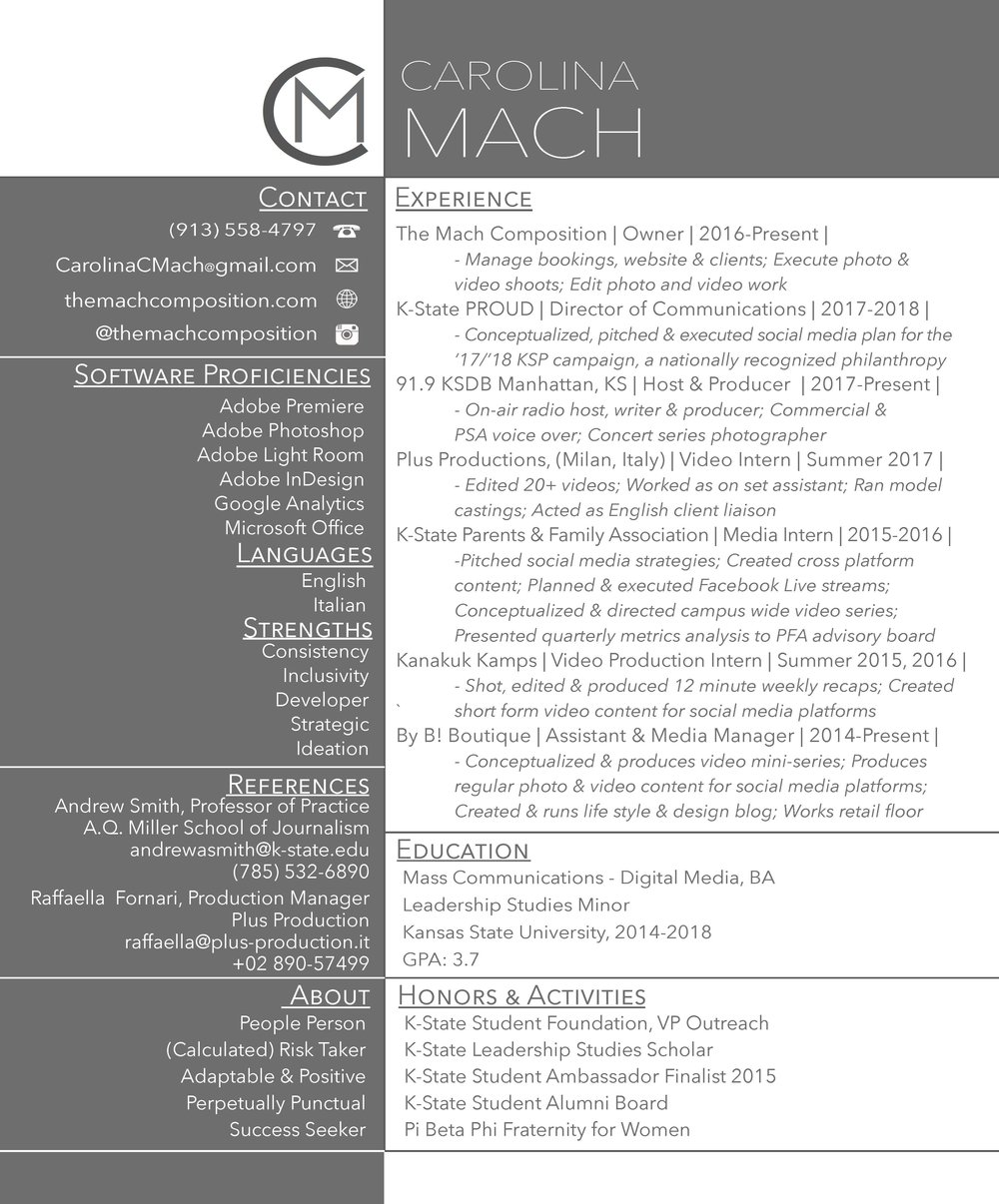 Resume The Mach Composition