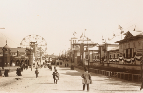 The Midway at the Cotton States and International Exposition, Atlanta, Georgia, 1895.