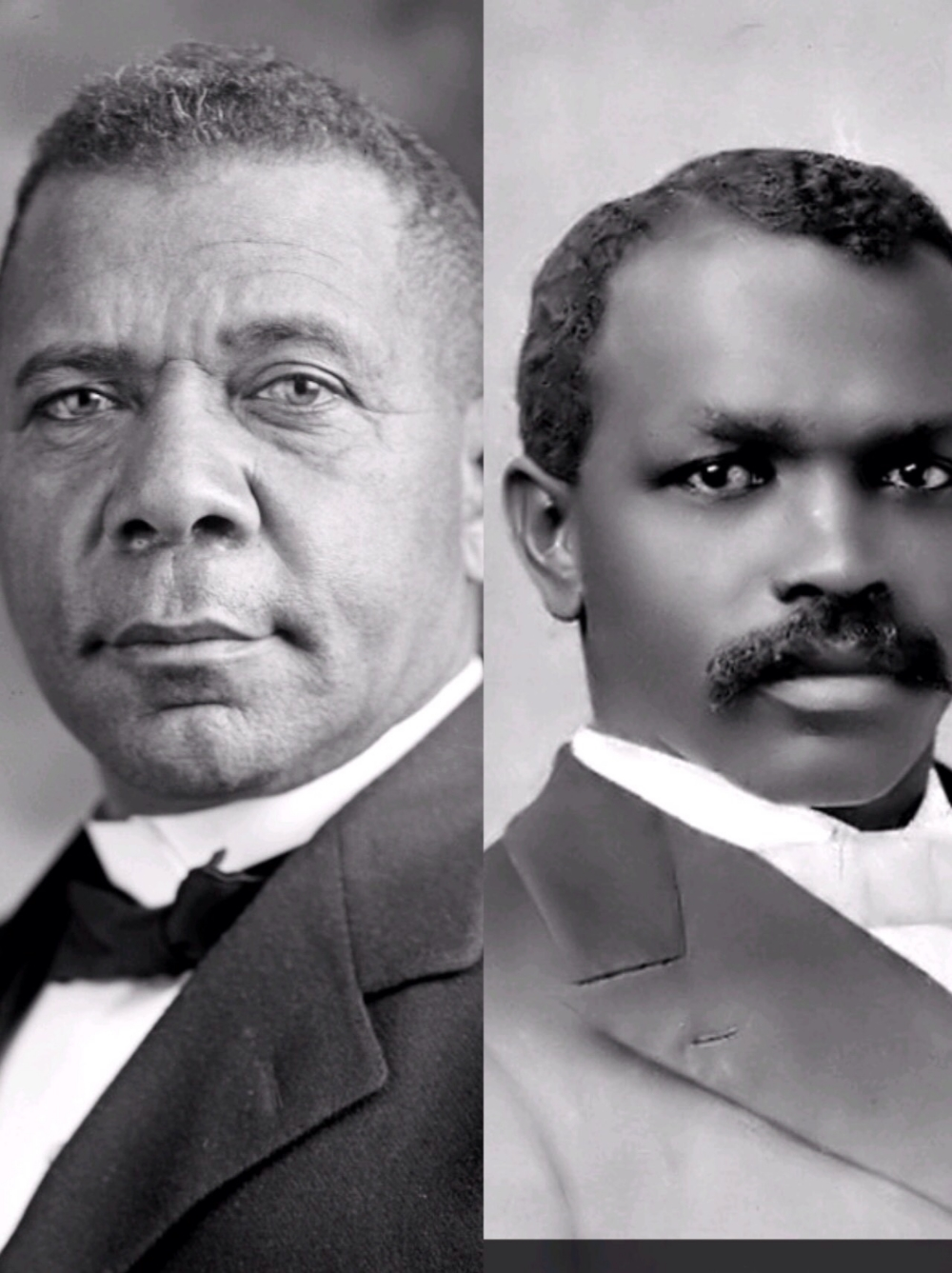 booker t. washington (left) and jwe bowne (right) both delivered speeches at the cotton states exposition, piedmont park, atlanta, georgia