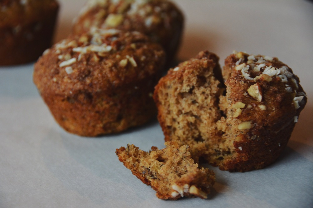 banana crumb muffins |doughing it right
