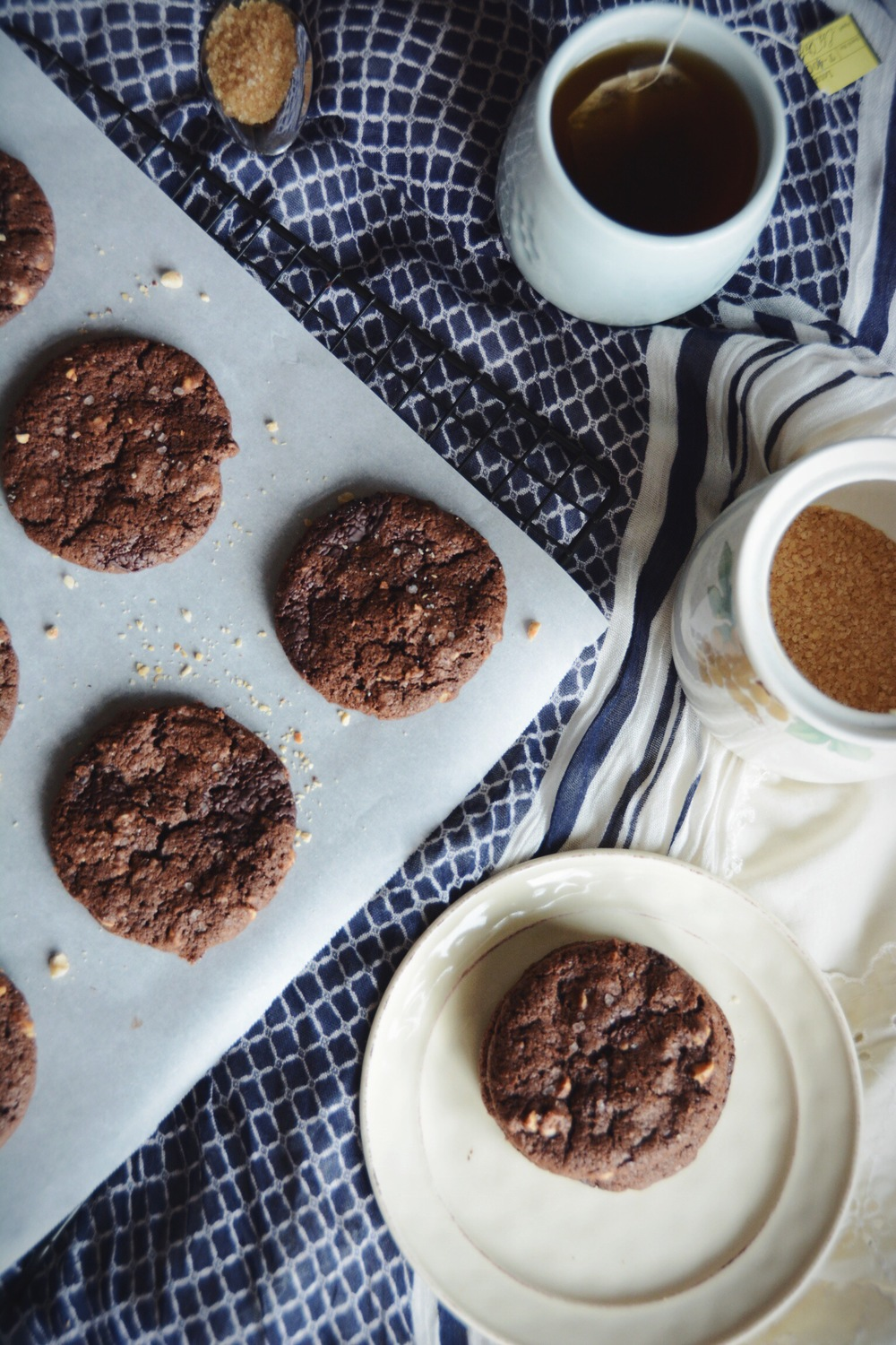 dark chocolate hazelnut cookies | doughing it right
