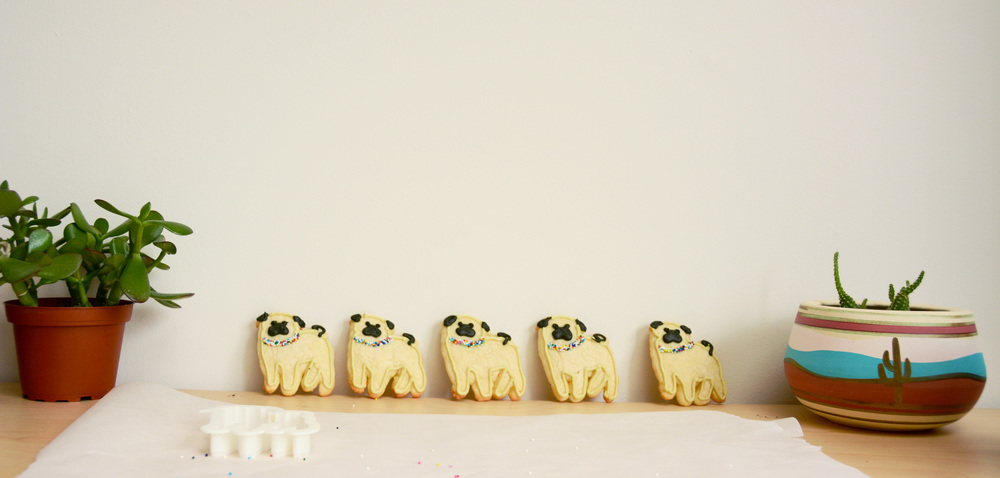 pug lyfe cookies | doughing it right