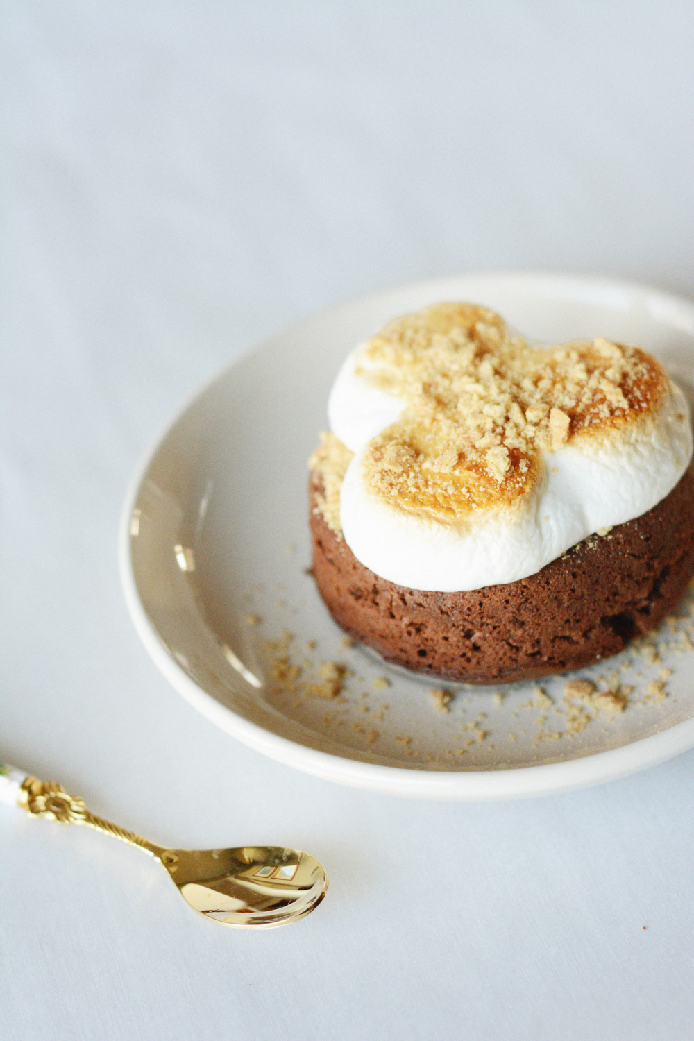 s'mores chocolate lava cake | doughing it right