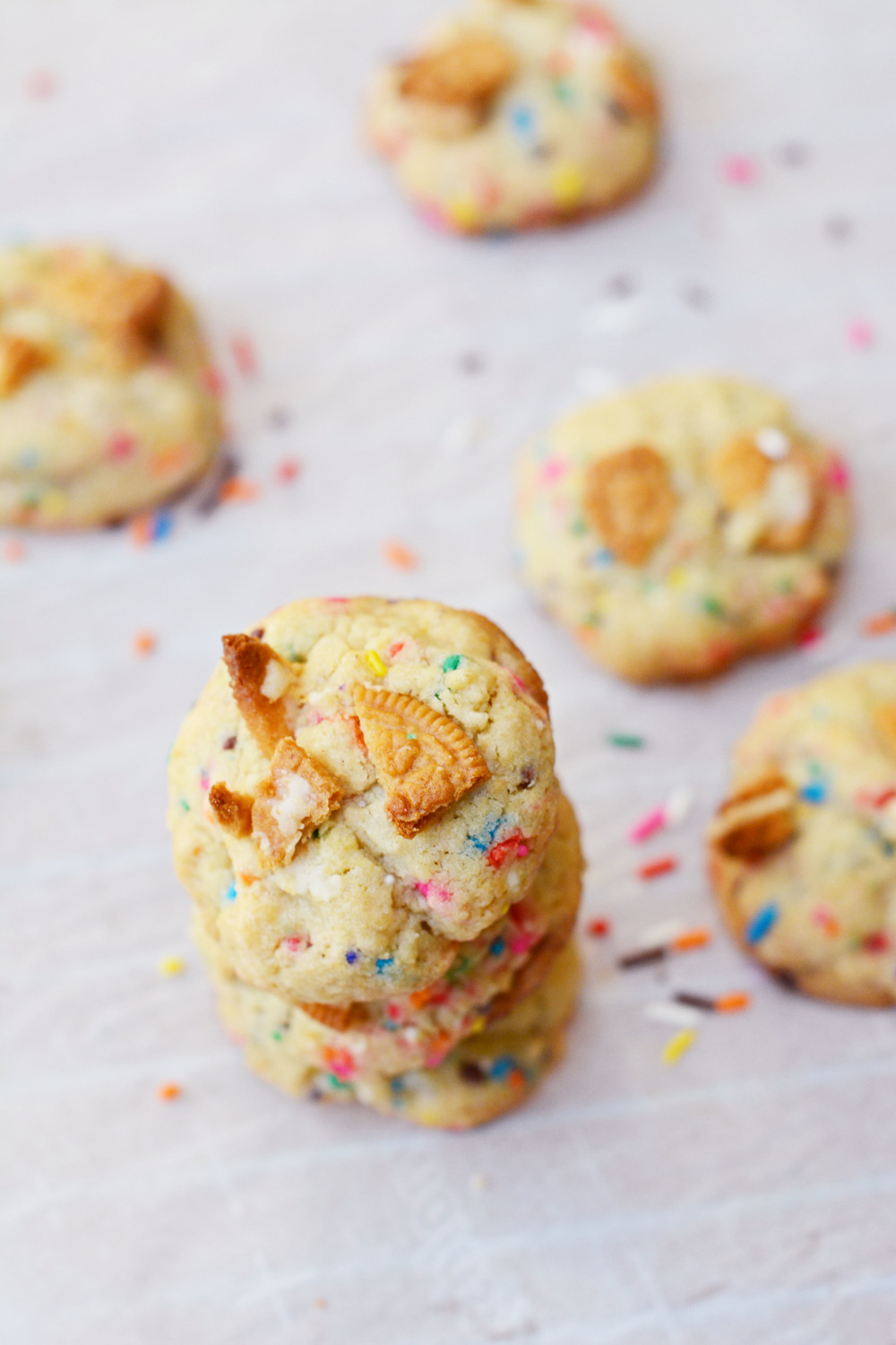 brown butter funfetti cookies | doughing it right