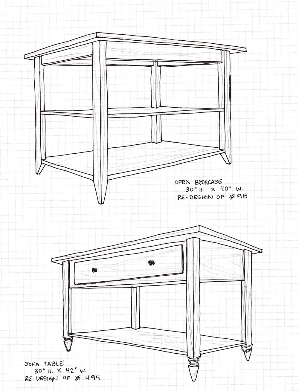 Bookcase & Sofa Table