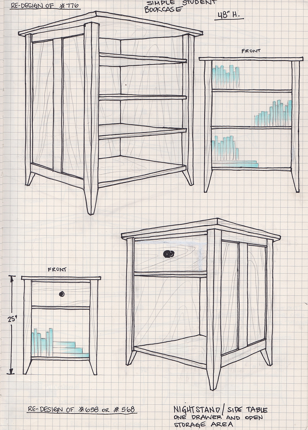 Student Bookcase & Nightstand