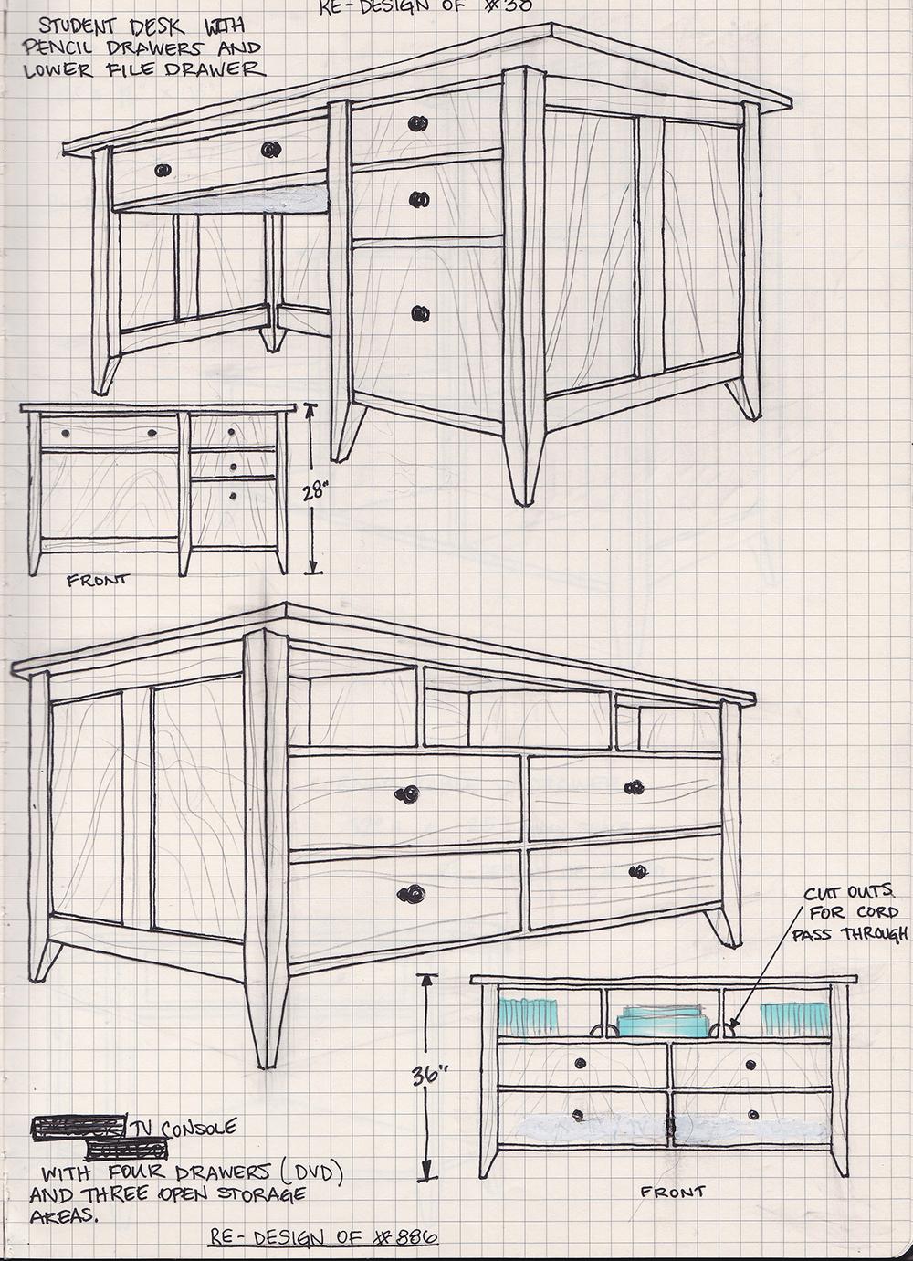 Student Desk & TV Console
