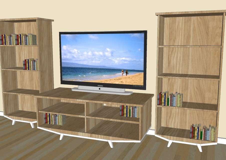 TV Console & Bookcases