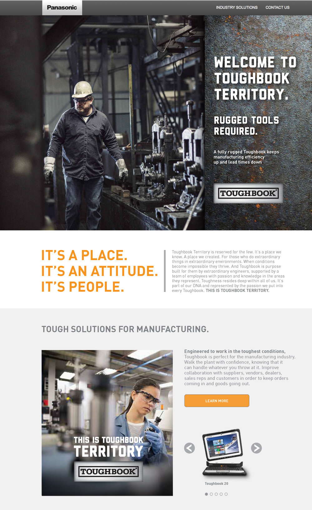 Toughbook Territory Landing Page